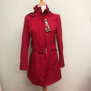 Calvin Klein Trench Coat with Belt: Red (PM531)